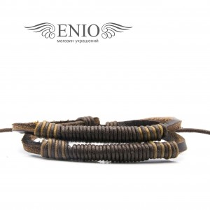 Кожаный браслет (Фенечка) MR.SMITH NL-0041-BRN фото 1
