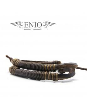 Кожаный браслет (Фенечка) MR.SMITH NL-0041-BRN фото 2