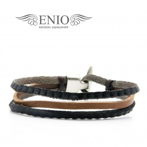 Плетеный кожаный браслет MR.SMITH MS-3409-BRN фото 1
