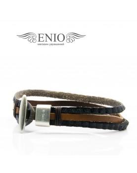 Плетеный кожаный браслет MR.SMITH MS-3409-BRN фото 2