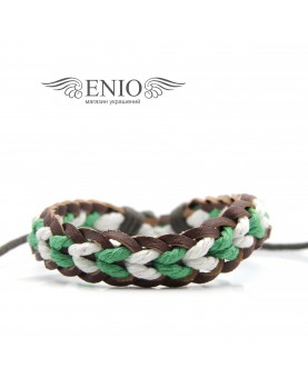 Кожаный браслет (Фенечка) Spikes NL-0045-BRN фото 1