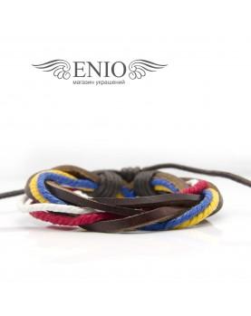 Кожаный браслет (Фенечка) Spikes NL-0034-BRN фото 1