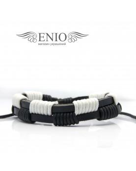 Кожаный браслет (Фенечка) Spikes SL0062-KWH фото 1