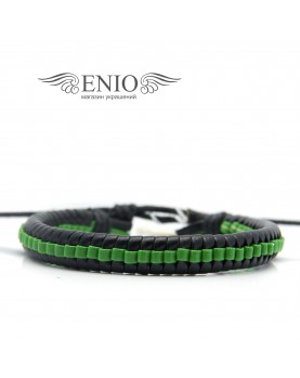 Кожаный браслет (Фенечка) Spikes NL-0048-BL фото 1