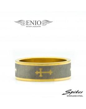 Стальное кольцо Spikes 010044 фото 1
