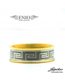 Стальное кольцо Версаче 010090 фото 1