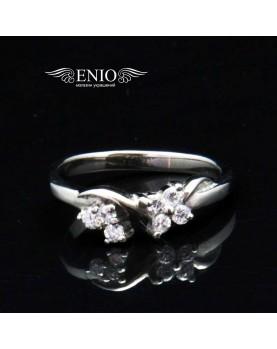 Кольцо из Ювелирной Стали с Цирконом 310043 фото 1