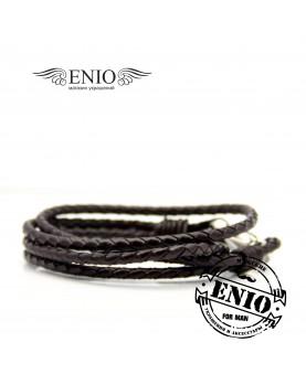 Плетеный кожаный браслет MR.SMITH MS-3203-BLS Фото 3