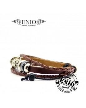 Кожаный браслет (Фенечка) Spikes NL-3201-BL фото 2