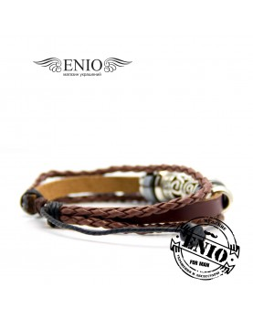 Кожаный браслет (Фенечка) Spikes NL-3201-BL фото 3