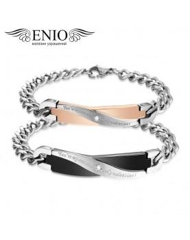 Двойные браслеты для влюбленных NL-6036-4T фото 1