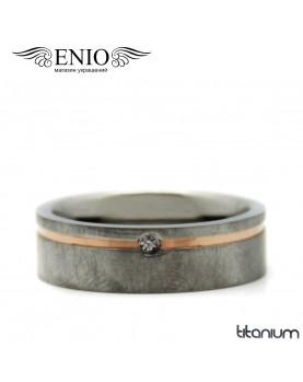 Титановое кольцо Spikes R-TI-1952-M фото 1