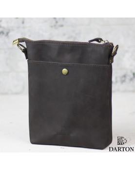 Мужская сумка планшет из кожи DARTON DUKE Deep Drown фото 1