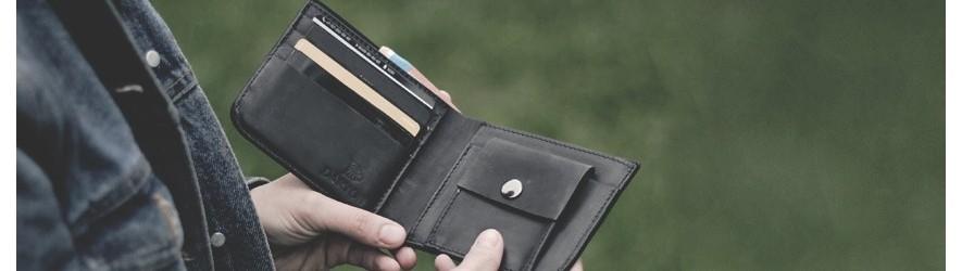 Купить мужские кожаные кошельки ручной работы, портмоне из кожи в Алматы с гравировкой