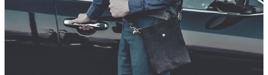 Купить мужские кожаные сумки через плечо недорого в интернет магазине Алматы