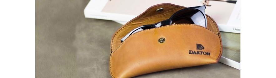Купить мужской футляр - чехол для очков из кожи в магазине Алматы