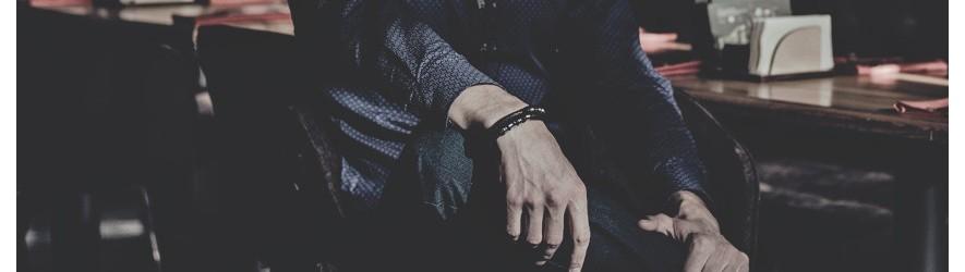 Мужские кожаные браслеты на руку купить в Алматы в интернет-магазине