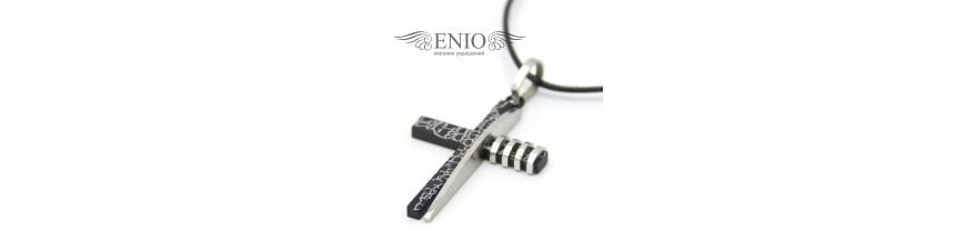 Мужские кресты нательные из стали купить недорого в Алматы в магазине