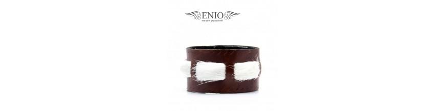 Женские кожаные браслеты купить в Алматы в магазине украшений